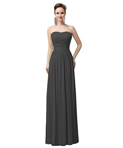 YesDress Damen Kleid Grau - Dunkelgrau V2qDIqyH