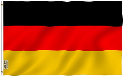 Anley Fly Breeze 3x5 Foot Germany Flag - Vivid Color and UV Fade Resistant - Canvas Header and Double Stitched - German Flags Polyester with Brass Grommets