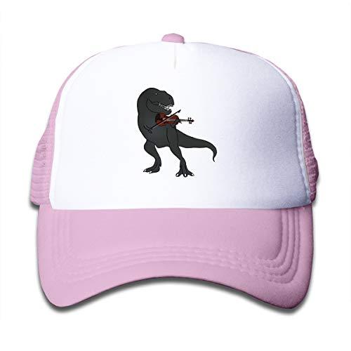 Wufive Tyrannosaurus Rex Violin Kids Unisex Children's Trucker Hats One Size Pink