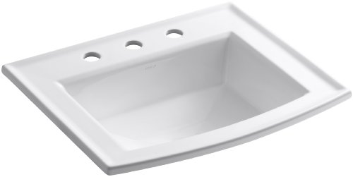 KOHLER K-2356-8-0 Archer Self-rimming Bathroom Sink with 8-Inch Centers, White by Kohler