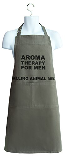 Talisman Designs Grilling Apron, Aroma Therapy for Men Printed on Chest, 100% Cotton