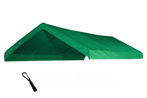 (10X20 Heavy Duty Green Canopy Top Cover with Valance )