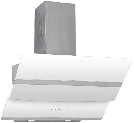 kkt Kolbe hermes8010 W (kopffreie pared de campana, 80 cm, color blanco, Acero inoxidable de cristal transparente, 800 CBM/H): Amazon.es: Grandes electrodomésticos