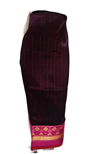 Fandango Pink Striped Laos Laotian Silk Blend Fabric Glue for Sinh Skirt LS8 ()