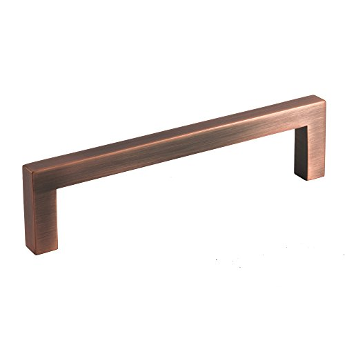 Square Bar Pull Modern Cabinet Handle Antique Copper Solid Zinc 9mm 5