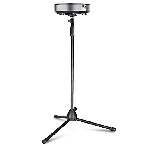 Projector Stand, Thustar Portable Tripod Stand Lightweight Adjustable Height 29.5″ to 55.1″ Floor Stand Holder 360°Swivel Ball Head for Projector, Small Camera, Webcam, GoPro with Carry Bag