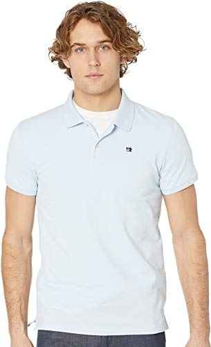 Scotch & Soda Men's NOS - Classic Polo in Pique Quality w/Clean Outlook Blue Large (Best Scotch And Soda)