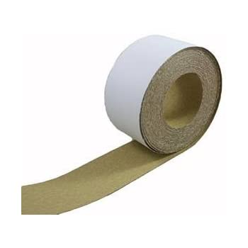 ABN Adhesive Sticky Back 220-Grit Sandpaper Roll 2-3/4in x 20 Yards Aluminum Oxide Golden Yellow Longboard Dura PSA