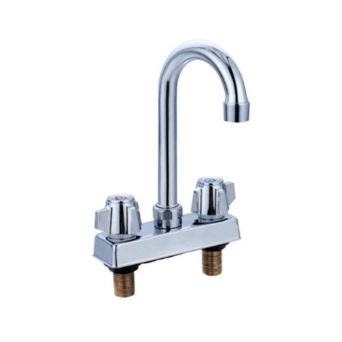 Commercial Deck-Mount Hand Sink Replacement Faucet Stainless Steel NSF; Fits Any 4
