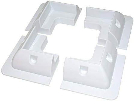 Solarpanel-Montagehalterung, rechteckig, weiß, selbstklebend, für Wohnwagen, Wohnmobile, Boote und jede flache Fläche (4 Stück-Set/7-teiliges Set)