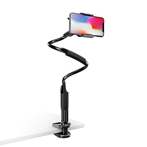 - Phone Holder for Bed, Lamicall Cell Phone Holder Flexible : Gooseneck Arm 360 Clip Bracket Clamp Mount Stand for Phone Xs Max XR X 8 7 6 Plus 5 4, Samsung S10 S9 S8 S7 S6, Huawei More Smart Phones