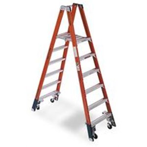 Twin Platform Stepladder, 6 ft, FGL, 300 lb - Twin Platform Step Ladder