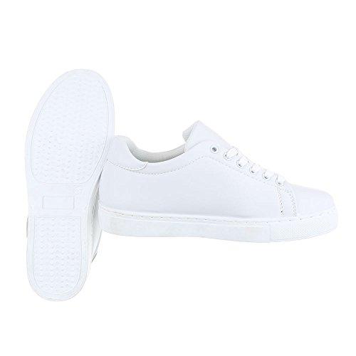 Ital-Design - Zapatillas de casa Mujer Weiß FC-S29