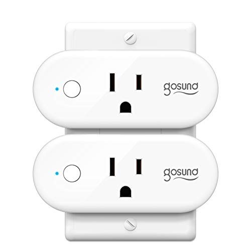 Smart Plug Gosund Wifi Smart Outlet Works with Alexa, Google Home, IFTTT for Voice Control, No Hub Required, Wi-Fi Remote Control Your Smart Socket from Anywhere, ETL and FCC Listed (2 Pack)