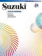 Suzuki Violin School Revised Edition Violin Part Book & CD Volume 2 - Edition Instructional Cd