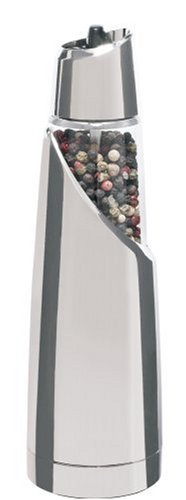 Trudeau Graviti Battery-Operated Electric Pepper Mill, Chrome