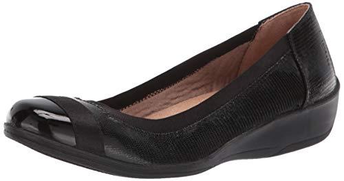 LifeStride Women's Indigo Ballet Flat, Black, 8.5 W US