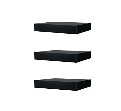Ikea Floating Wall Lack Shelf Black - Home Decor Stack of 3 Shelves