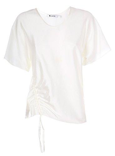 4w481047u6106 Robe De Soie Blanche Des Femmes Alexander Wang