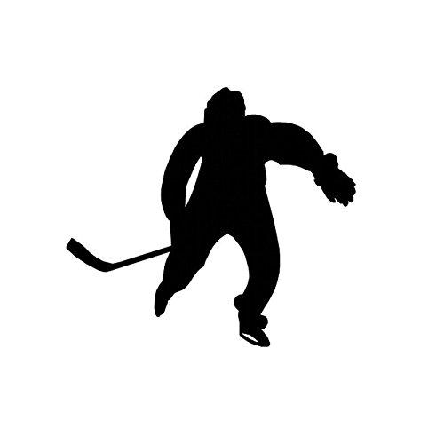 KGTHSS Mode Hockey Player Dekor Wand Tür Aufkleber Vinyl Schalter Aufkleber 5 WS 0396