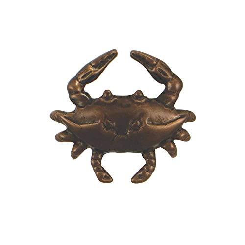 Blue Crab Doorbell Ringer - Oiled Bronze