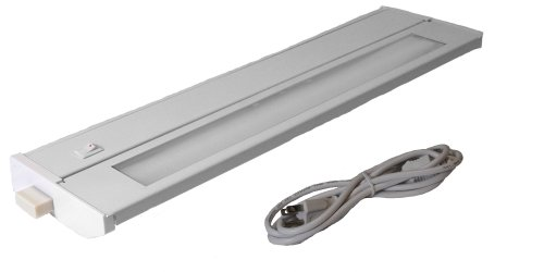American Lighting 043T-14P-WH Hardwire Fluorescent Under Cabinet Lighting, 8-Watt Lamp with On/Off Switch, 120-Volt, White, 14-Inch by American Lighting