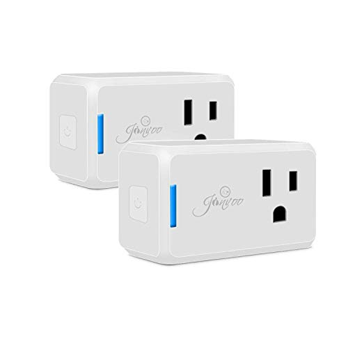 Jinvoo Wi-Fi Smart Plug Wi-Fi Mini Outlet with timing function,Remote Control your Devices,Occupies Only One Socket,Works with Alexa & Google Assistant-2 Pack