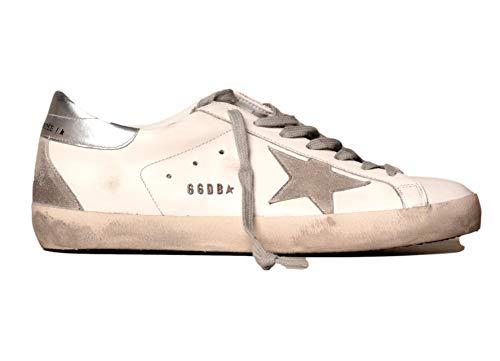 Golden-Goose-Mens-Superstar-Leather-Upper-Suede-Star-Metal-Lettering-WhiteIceSilver-40-M