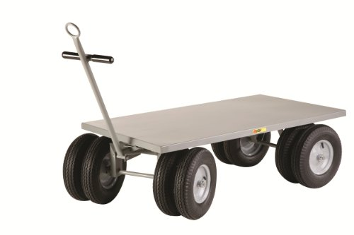 Little Giant CD-3060-16PFD-CR Flush Deck Edge 8-Wheeler Wagon Truck, 3000 lbs Capacity, 60