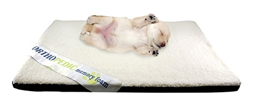 RESTOLOGY Memory Foam Orthopedic Sherpa Cushion Crate Mat, B