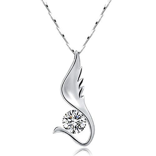 LoEnMe Jewelry Swan Ocean Animal Schwanensee 925 Sterling Silver Necklace Crystal Pendant Gift Valentine Women
