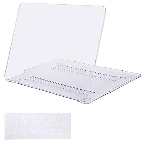 MOSISO Plastic Hard Shell Case with Keyboard Cover Compatible MacBook Air 11 Inch (Models: A1370 and A1465),Crystal Clear by MOSISO (Image #1)