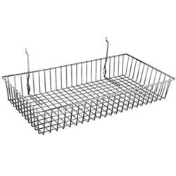 Lot of 6 Slatwall Gridwall Grid Black Basket Display