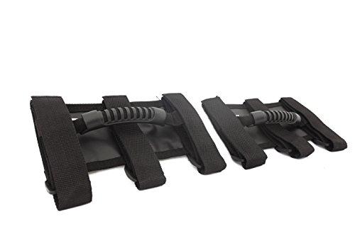 Rugged Ridge 13505.04 Ultimate Black Grab Handle for CJ Jeep and Wrangler 1955-2010 - Pair