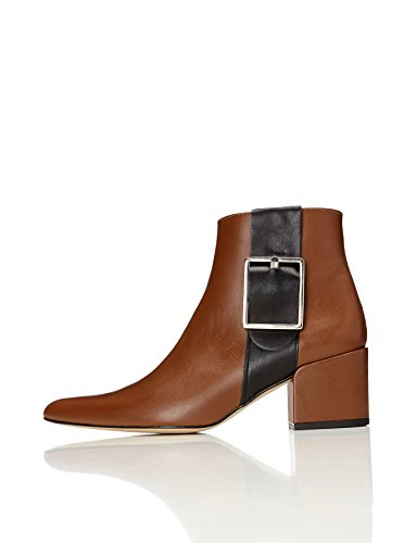 FIND-Womens-Ankle-Boots-with-Zips-and-Colour-Block-Straps