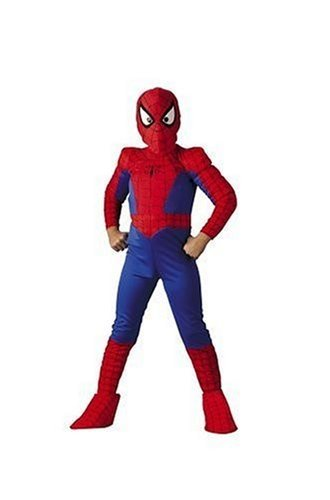 Spider-Man Deluxe Child Costume: Size 10-12 Husky (Spiderman Costume Movie)