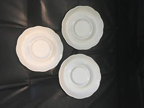 STERLING COLONIAL J&G MEAKIN (ENGLAND) SAUCERS CRAZING ()