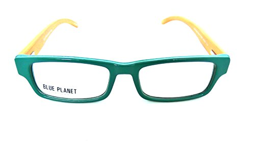 BLUE PLANET Reading Glasses Eco Friendly Men Women Sustainable Bamboo Ladies Designer Eyeglasses Green - Blue Products Planet