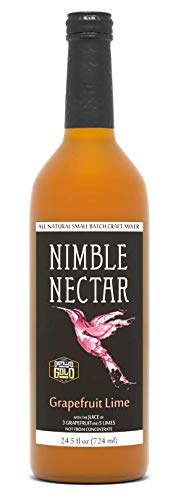 Nimble Nectar Grapefruit Lime award-winning all-natural nectar for cocktails mimosas and refreshers, 9 servings