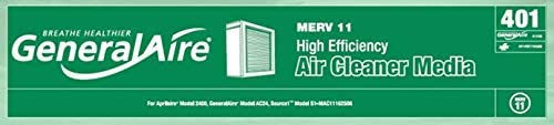 MERV 11 4051 Expandable Filter for GeneralAire 401-13156 for Aprilaire 2400 and GeneralAire AC24