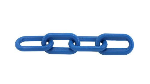 Blue Plastic Chain 1.5 Inch (6mm) 50 Feet by TC International