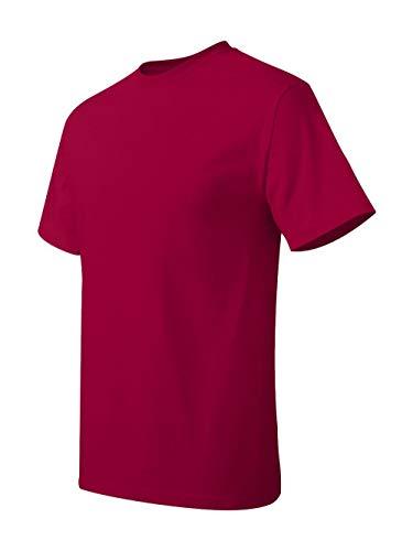 Hanes ComfortBlend & EcoSmart & Crewneck Men's T-Shirt, Deep Red, Size - L