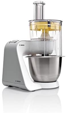 Bosch Styline Robot de cocina con accesorios, 450 W, 3.9 litros, 7 Velocidades, Acero inoxidable, Blanco: Amazon.es: Hogar