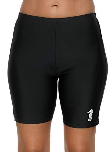 (beautyin Womens Rashguard Bottoms Boardshort Sun Protection Long Jammer Swim Short 2XL )