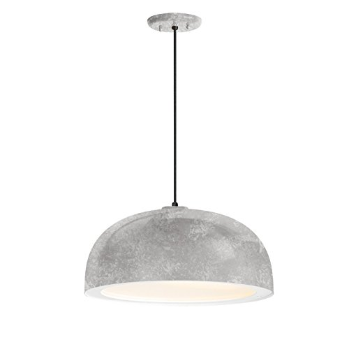 16 Inch Dome Pendant (Troy RLM 5DDM16MGAWT-BC Dome Outdoor Pendant, Galvanized)