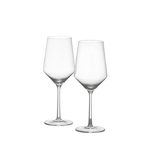 Schott Zwiesel Tritan Crystal Glass Stemware Pure Collection Cabernet/All Purpose Red or White Wine Glass, 18.2-Ounce, Set of 2 (Crystal Set Wine)