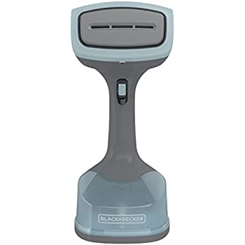 BLACK+DECKER 1400W Advanced Handheld Steamer, 3 Attachments, Gray/Blue, HGS200