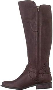 GUESS G Harson5 Wide Calf Knee High Boots, Dark Brown