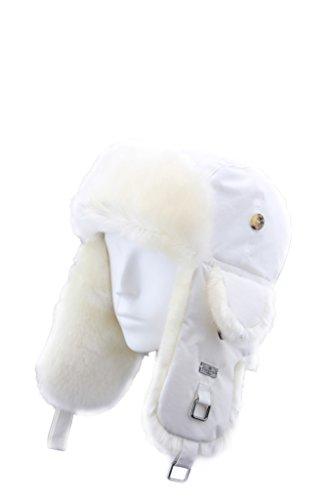 FUR WINTER Taslon Faux Fur Aviator Ski Trapper Trooper Pilot Hat WHI M/L for $<!--$31.99-->