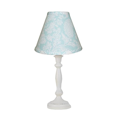 Cotton Tale Designs Floral Paisley Lamp and Shade, Sweet & Simple Aqua Blue ()